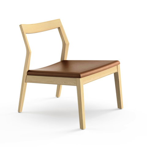 Knoll - Krusin Lounge Armless Chair - Natural Oak / One Size - Lekker Home