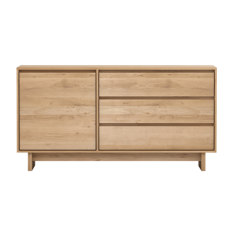 Ethnicraft NV - Wave Sideboard - Solid Oak / One Door - Lekker Home