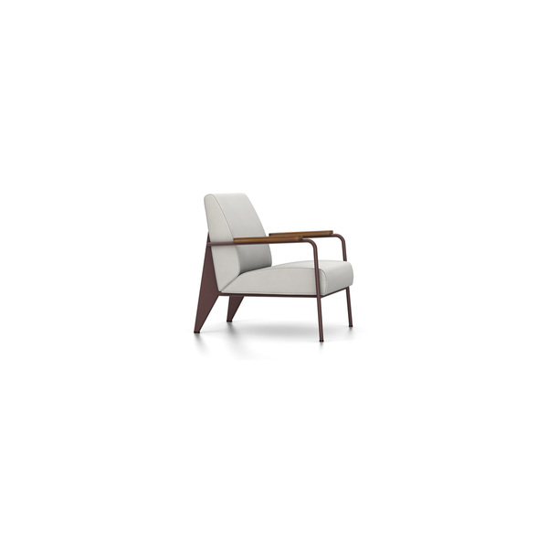 Vitra - Fauteuil de Salon - Twill Light Grey / Chocolate - Lekker Home