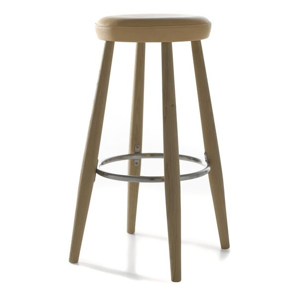 Carl Hansen - CH58 Counter Stool - Oak Soap / Thor Leather Beige - Lekker Home