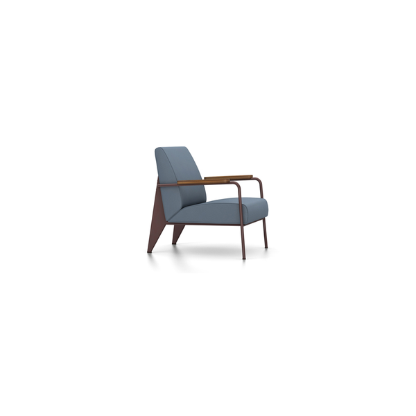 Vitra - Fauteuil de Salon - Twill Blue-Grey / Chocolate - Lekker Home