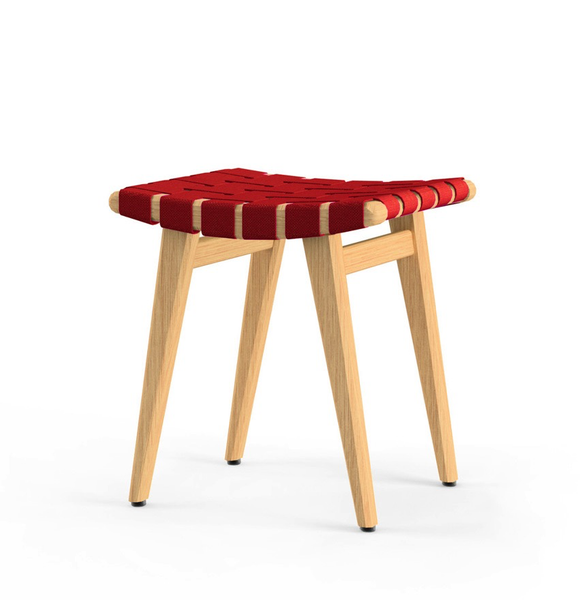 Knoll - Risom Stool - Red / Clear Maple - Lekker Home