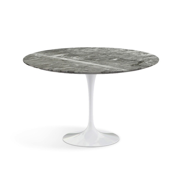 "Knoll - Saarinen Dining Table 47"" Round - Grey Coated Marble / White - Lekker Home"