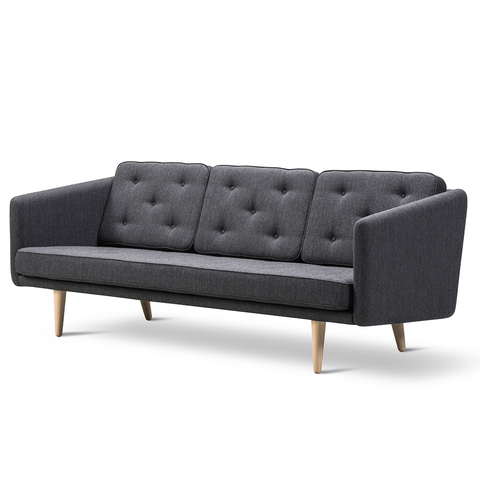 Fredericia - No. 1 3-Seater Sofa - Rime 981 / Oak Soap - Lekker Home
