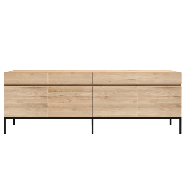 Ethnicraft NV - Ligna Sideboard - 4 Doors / Black Metal - Lekker Home