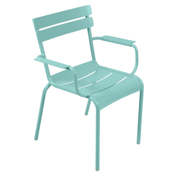 Fermob - Luxembourg Chair (Set of 4) - Lagoon Blue / Armchair - Lekker Home