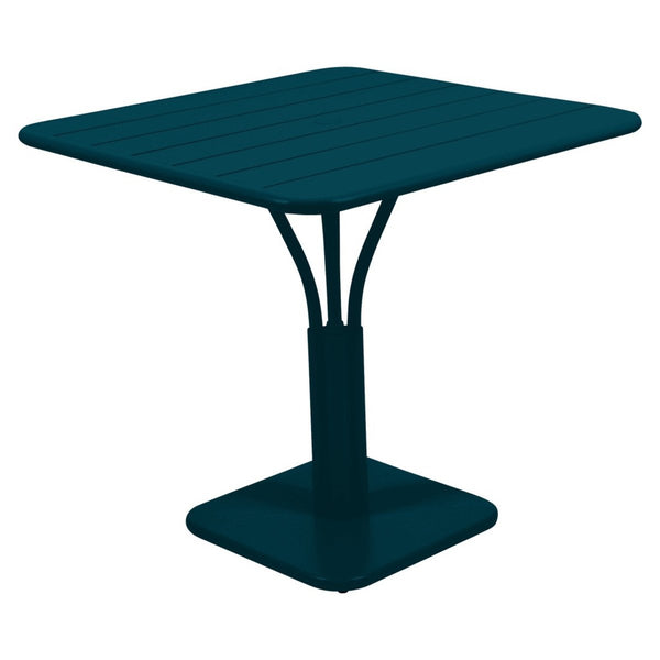 Fermob - Luxembourg Pedestal Dining Table - Acapulco Blue / One Size - Lekker Home