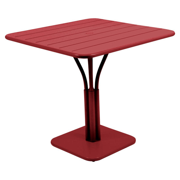 Fermob - Luxembourg Pedestal Dining Table - Chili Red / One Size - Lekker Home