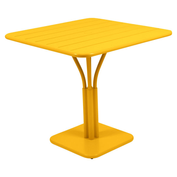 Fermob - Luxembourg Pedestal Dining Table - Honey / One Size - Lekker Home