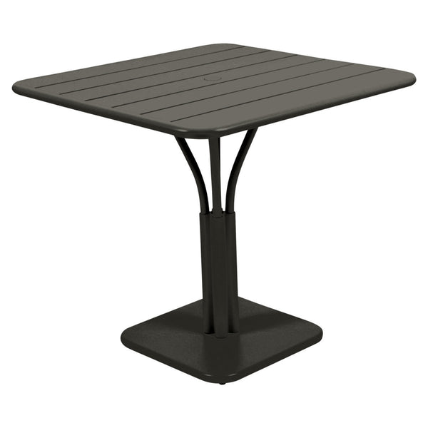 Fermob - Luxembourg Pedestal Dining Table - Liquorice / One Size - Lekker Home