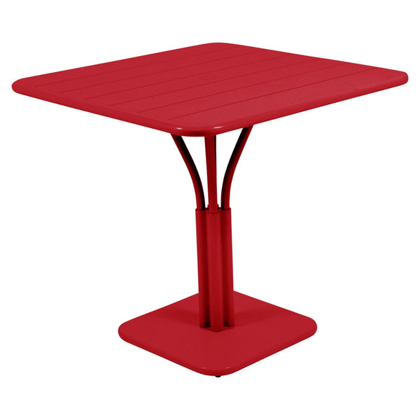 Fermob - Luxembourg Pedestal Dining Table - Poppy Red / One Size - Lekker Home