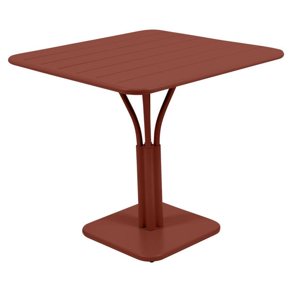 Fermob - Luxembourg Pedestal Dining Table - Red Ochre / One Size - Lekker Home