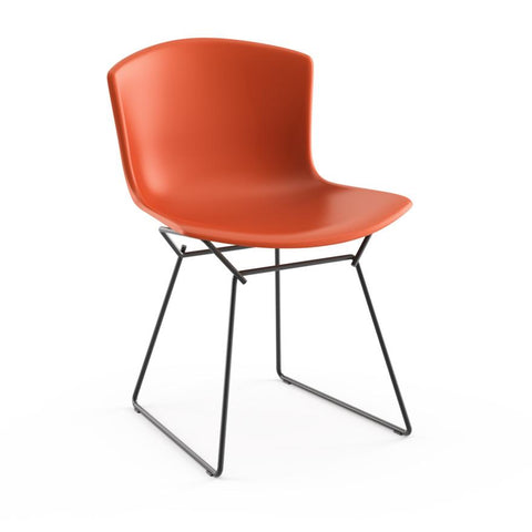Knoll - Bertoia Molded Shell Side Chair - Orange Red / Black - Lekker Home