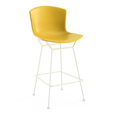 Knoll - Bertoia Molded Shell Counter Stool - Yellow / White - Lekker Home