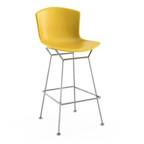 Knoll - Bertoia Molded Shell Barstool - Medium Grey / Black - Lekker Home