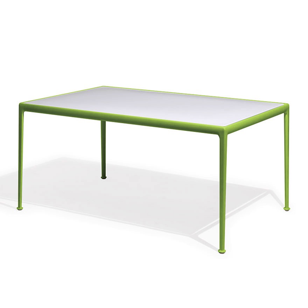 Knoll - 1966 Dining Table - Lime Green/White / Rectangle - Lekker Home