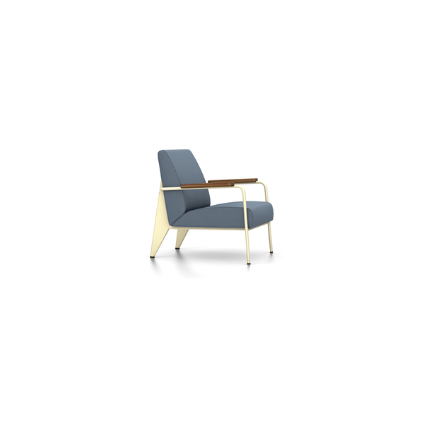 Vitra - Fauteuil de Salon - Twill Blue-Grey / Ecru - Lekker Home