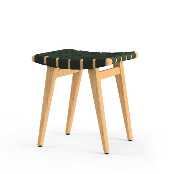 Knoll - Risom Stool - Forest Green / Clear Maple - Lekker Home