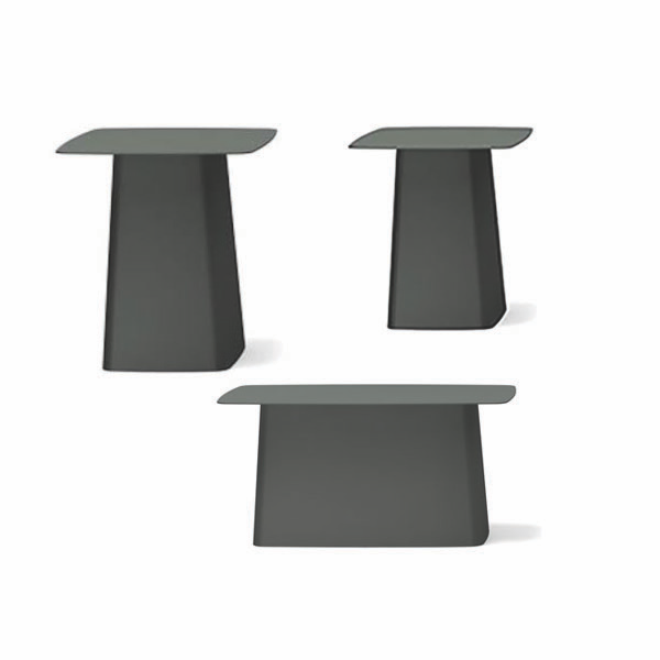 Metal outdoor side table by vitra lekker home - Metal side tables for living room ...