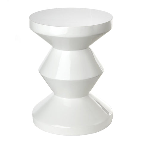 Pols Potten - Zig Zag Stool - White / One Size - Lekker Home