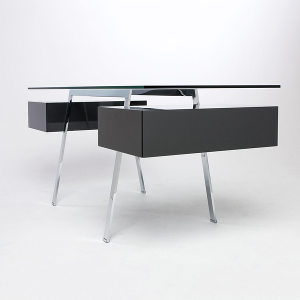 Bensen - Homework 2 Desk - Chrome Legs - Lekker Home - 5