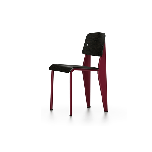 Vitra - Standard Chair - Japanese Red / Dark Oak - Lekker Home