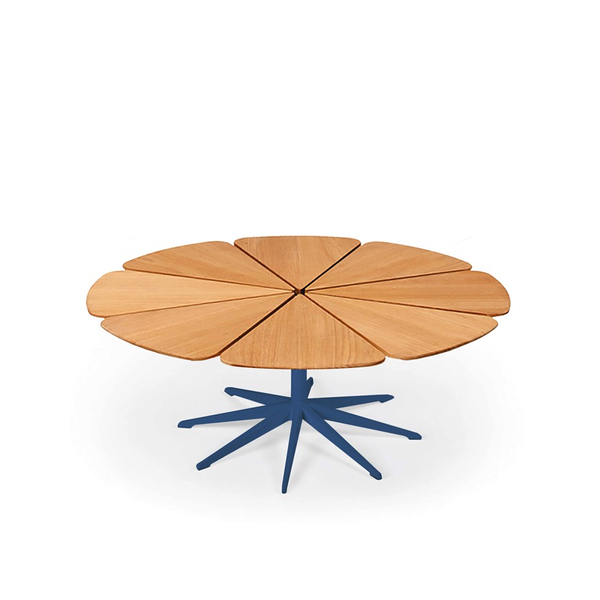 Knoll - Petal® Coffee Table - Blue / Teak Petals - Lekker Home