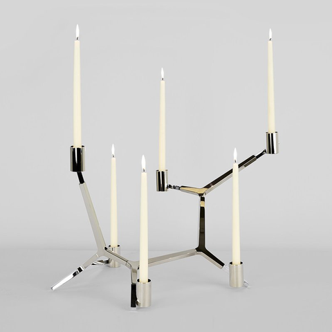 Roll & Hill - Agnes Candelabra - Bronze / 3 Candles - Lekker Home
