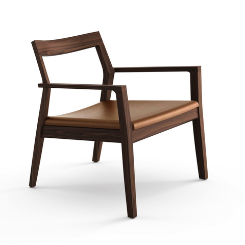 Knoll - Krusin Lounge Arm Chair - Natural Oak / One Size - Lekker Home
