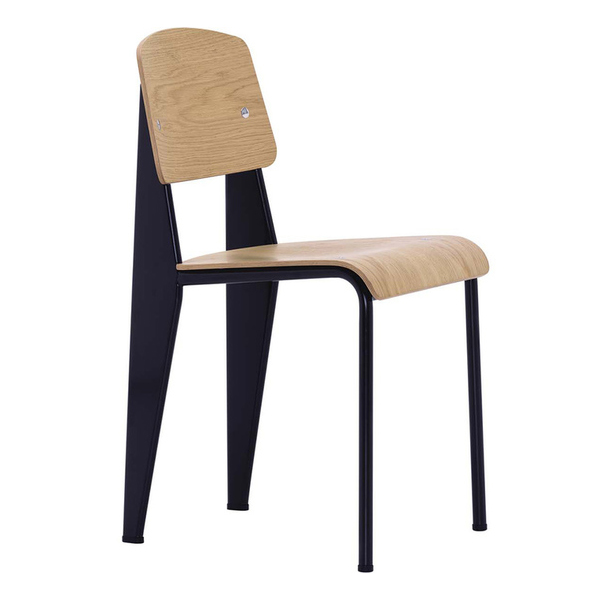 Vitra - Standard Chair - Chocolate / Black Pigmented Walnut - Lekker Home