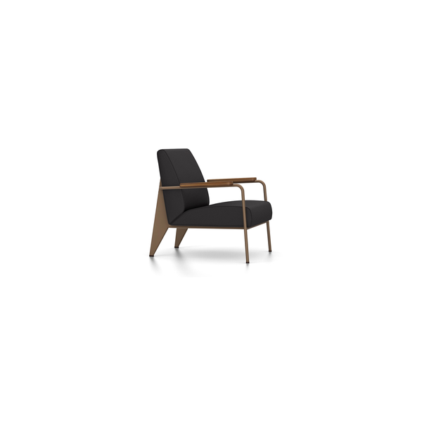 Vitra - Fauteuil de Salon - Twill Black / Coffee - Lekker Home
