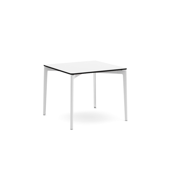 "Knoll - Stromborg Table Square 36"" - Dark Charcoal / Clear Glass - Lekker Home"