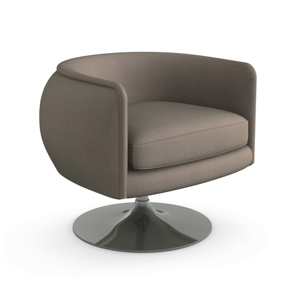 Knoll - D'Urso Swivel Chair - Putty Hopsack / One Size - Lekker Home