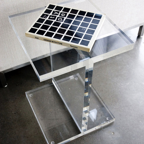 Gus Modern - Acrylic I-Beam Table - Lekker Home