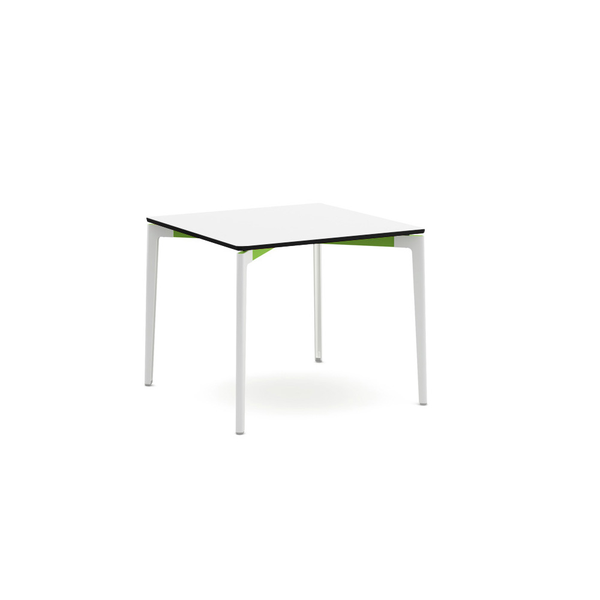 "Knoll - Stromborg Table Square 36"" - Lime Green / Bright White Laminate - Lekker Home"