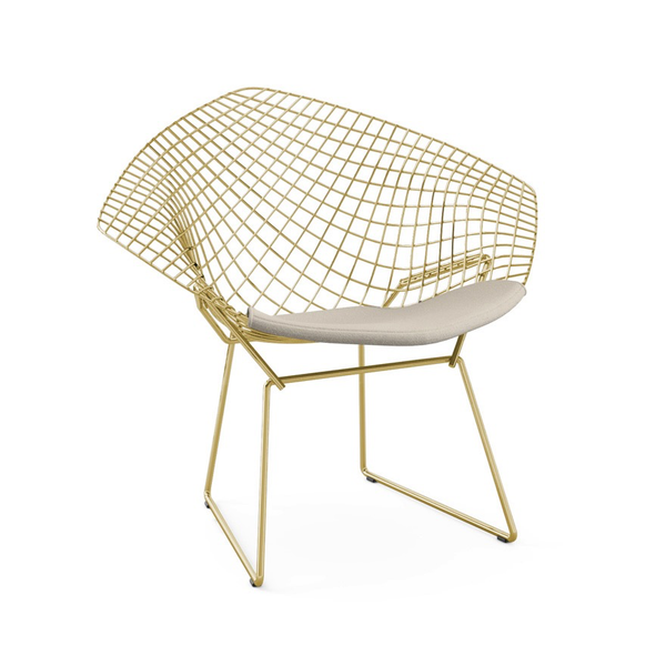 Knoll - Bertoia Diamond Chair - Gold - Lekker Home - 8