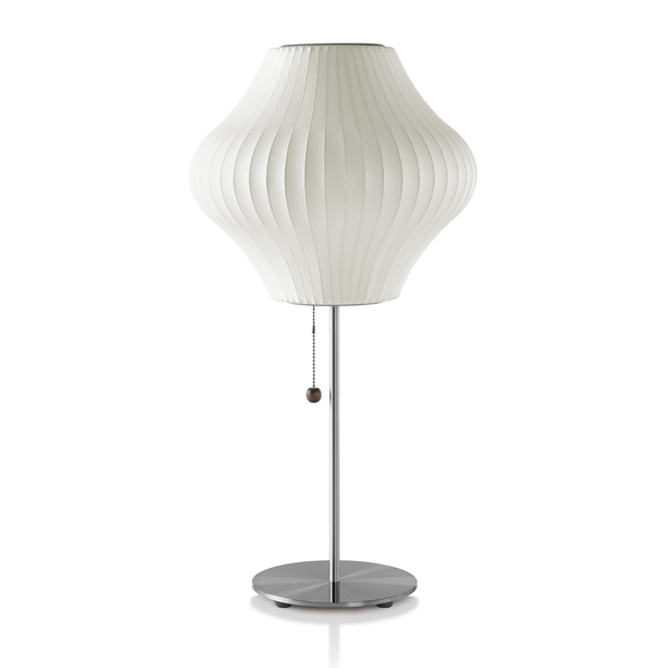 Herman Miller - Nelson™ Pear Lotus Table Lamp - Brushed Nickel / Small - Lekker Home