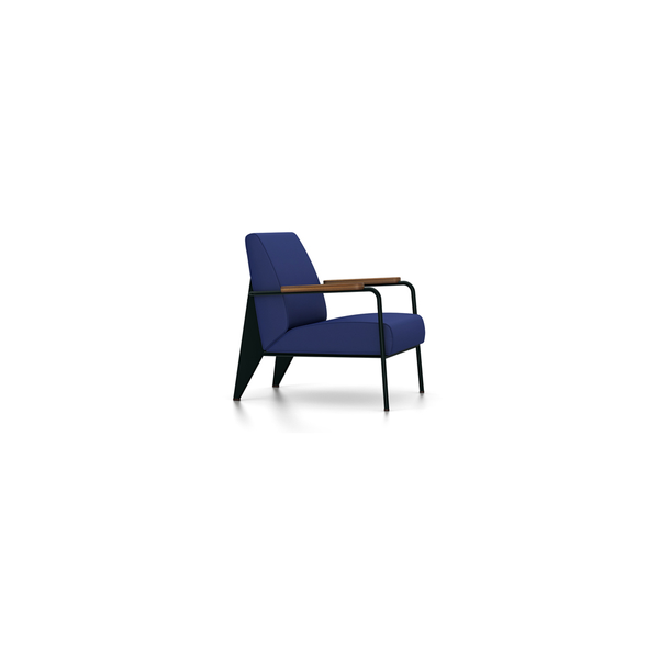 Vitra - Fauteuil de Salon - Twill Ink Blue / Deep Black - Lekker Home