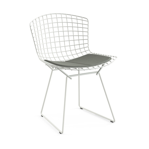 Knoll - Bertoia Side Chair - Smoke Classic Boucle / White - Lekker Home