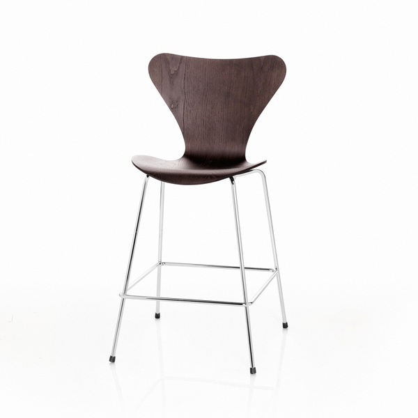 Fritz Hansen - Series 7 Stool - Wood - Lekker Home - 2