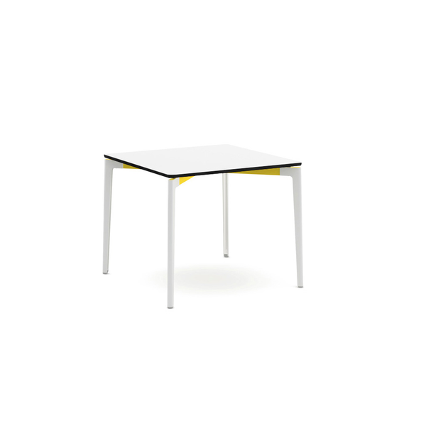 "Knoll - Stromborg Table Square 36"" - Yellow / Bright White Laminate - Lekker Home"