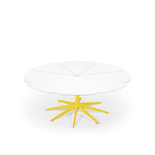 Knoll - Petal® Coffee Table - Yellow / White Petals - Lekker Home