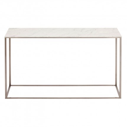 Blu Dot - Minimalista Console Table - Marble / Stainless Steel - Lekker Home