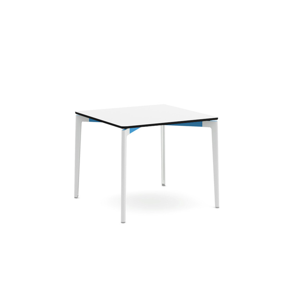 "Knoll - Stromborg Table Square 36"" - Blue / Bright White Laminate - Lekker Home"