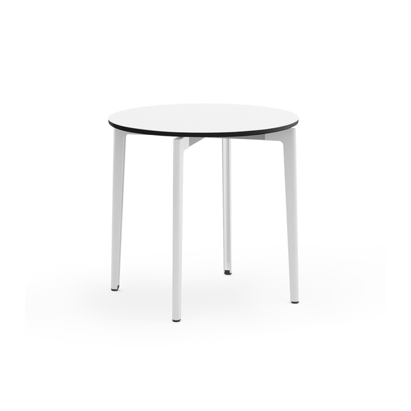 "Knoll - Stromborg Table Round 32"" - Dark Charcoal / Bright White Laminate - Lekker Home"
