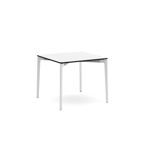 "Knoll - Stromborg Table Square 36"" - Dark Charcoal / Bright White Laminate - Lekker Home"
