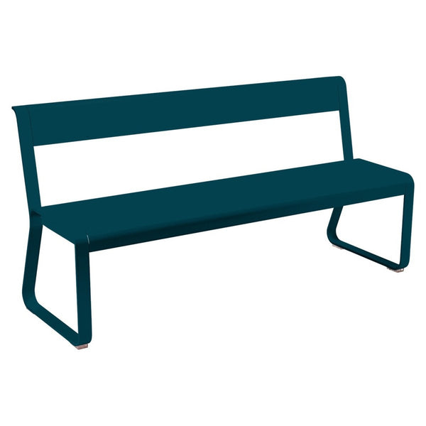Fermob - Bellevie Bench with Back - Acapulco Blue / One Size - Lekker Home