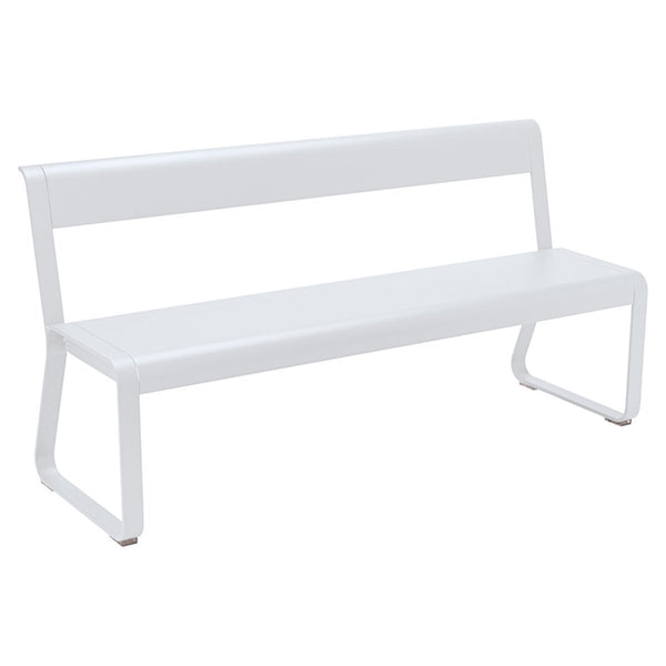 Fermob - Bellevie Bench with Back - Cotton White / One Size - Lekker Home