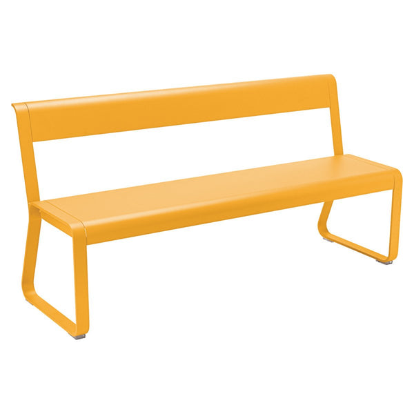 Fermob - Bellevie Bench with Back - Honey / One Size - Lekker Home
