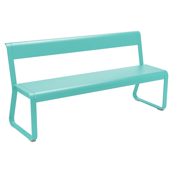 Fermob - Bellevie Bench with Back - Lagoon Blue / One Size - Lekker Home